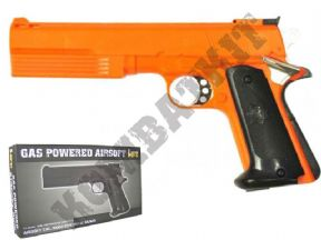 HG125 Gas BB Gun | 1911 Tactical Style Airsoft Pistol 2 Tone Orange | KOMBATKIT SHOP